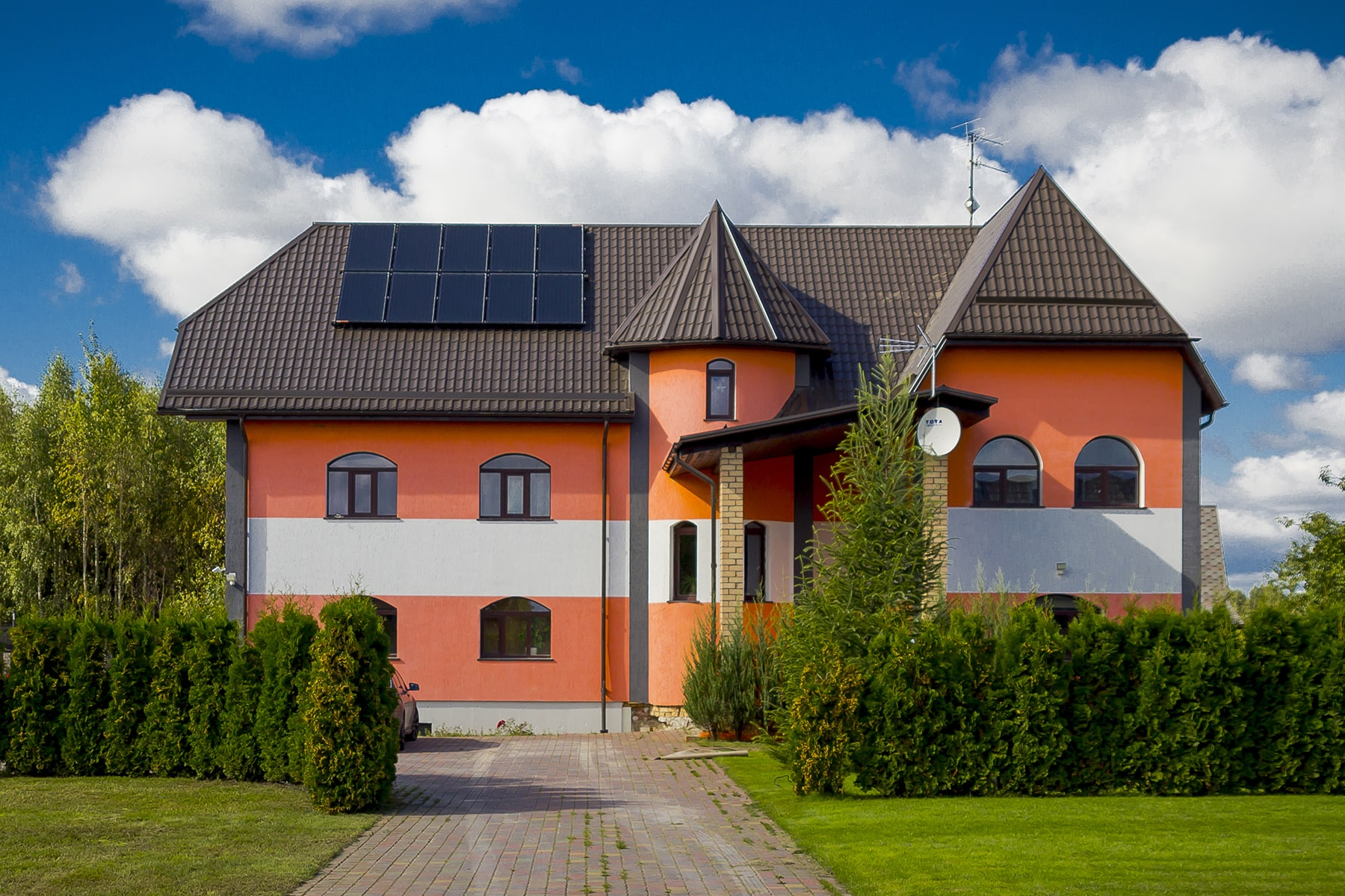 Solar collectors for private houses
