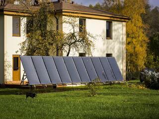 Solar collectors for heating - Solar heat pump system