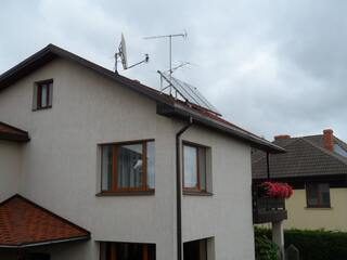 Solar collectors for hot water in Cesis