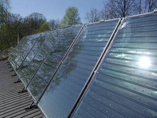 Solar collector system for heating support in Tukums