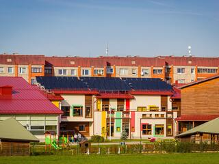 Saules kolektoru sistēma Cēsu 5. pirmsskolas izglītības iestādē