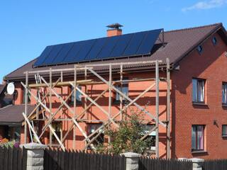 Solar support for heating and hot water in Kekava