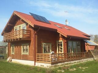Solar collectors for hot water in Salas parish