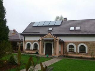 Solar collector system in Stopiņi region