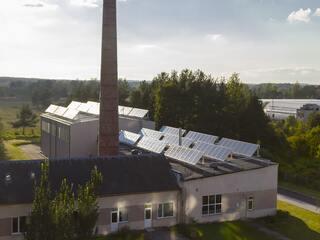Saules kolektori Jēkabpils reģionālās slimnīcas katlu mājā