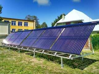 "Solar collector system for the heat producer ""Liepājas enerģija"""